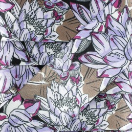 48 mm Reversible Satin Ribbon - Purple Water Lily x 50cm
