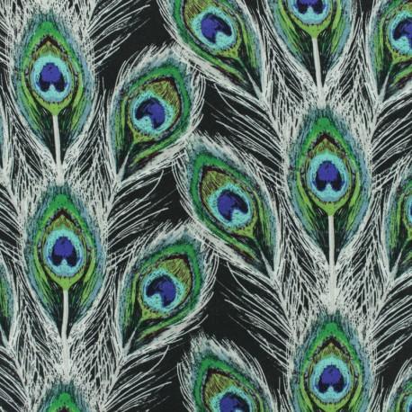 AGF Rayon fabric - Paon Plumes Royal  x 10cm