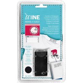 2 Cartouches d'Encre pour Tampon Textile - Minestamp
