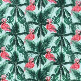 Tissu Popeline de coton Tropicanimal - Turquoise x 10cm