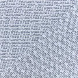 Tissu Popeline de coton Lunettes - Blanc x 10cm