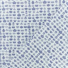 Tissu Popeline de coton Crown - Blanc x 10cm