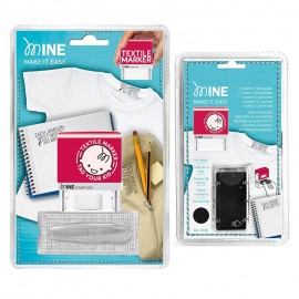 Pack Tampon Textile + 3 Cartouches d'Encre - Minestamp