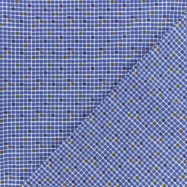 Tissu Popeline de coton Pois carré - Blanc x 10cm