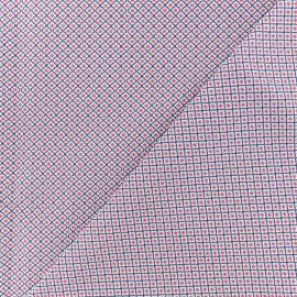 Tissu Popeline de coton Graphic Tiles - Blanc x 10cm