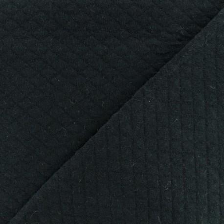 Tissu jersey matelassé losanges 10/20 - noir x 10cm