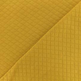 Tissu jersey matelassé losanges 10/20 - Curry x 10cm