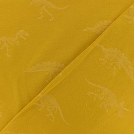 Poppy jersey fabric - Yellow Dino x 10cm