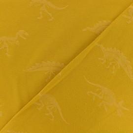 Tissu jersey Dino - jaune x 10cm