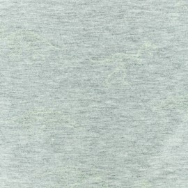 Tissu jersey Phosphorescent Dino - gris chiné x 10cm