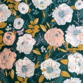 Tissu rayonne AGF Foraged Garland Golden - vert x 10cm
