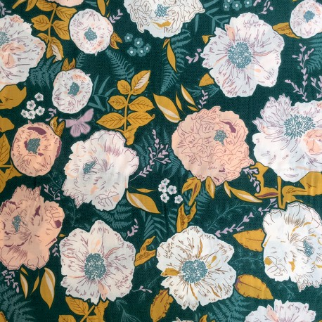 AGF Rayon fabric - Foraged Garland Golden x 10cm