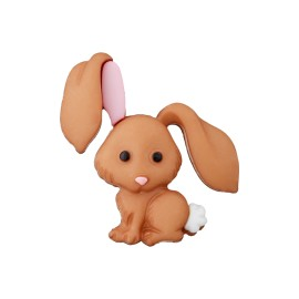 28 mm Polyester Button - Caramel Hare