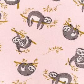 Sweatshirt fabric - Pink Sloth x 10 cm