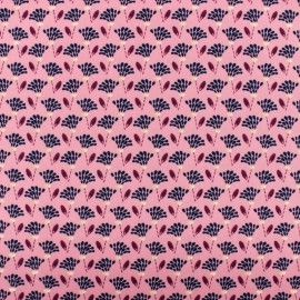 ♥ Coupon 150 cm X 145 cm ♥ Tissu polyester satiné Flowers Pearl Peach by Penelope® - vieux rose