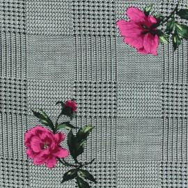 Tissu Viscose Princesse Eugénie - rose x 10cm