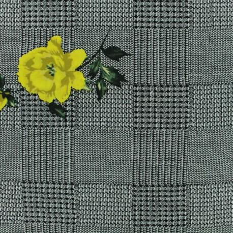 Tissu Viscose Princesse Eugénie - jaune x 10cm