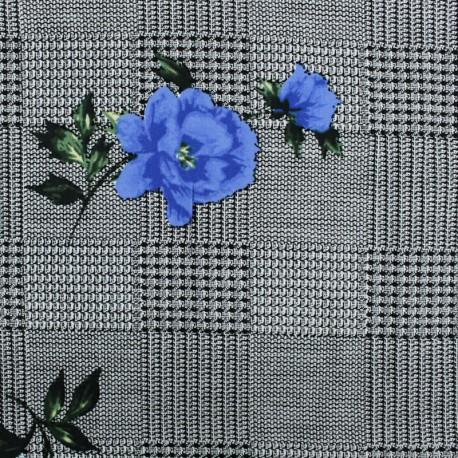 Viscose Fabric - Blue Princesse Eugénie x 10cm