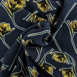 Tissu Viscose Charlotte - bleu x 10cm