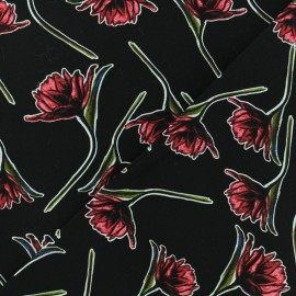 Viscose Fabric - Black Charlotte x 10cm