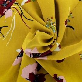 Tissu Viscose Amélie - jaune x 10cm
