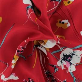 Tissu Viscose Amélie - Rouge x 10cm