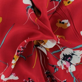 Viscose Fabric - red Amélie x 10cm