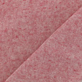 Chambray Cotton fabric - Red x 10cm