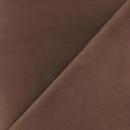 Tissu Coton uni chocolat x 10cm