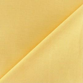 Tissu Coton uni jaune aurore