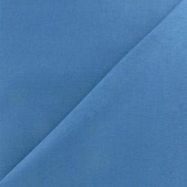 Tissu Coton uni bleu gris