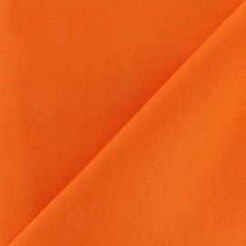 Tissu Coton uni - orange x 10cm