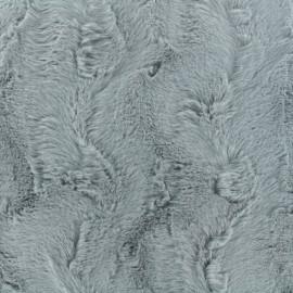 Fur fabric - light grey Délice x 10cm