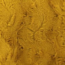 Fur fabric - Ochre yellow Délice x 10cm
