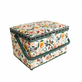 Rectangular Sewing Box - Island Flower