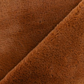 Tissu fourrure Vancouver - Marron x 10cm