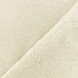 Tissu fourrure Vancouver - Beige x 10cm