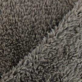 Tissu fourrure Misty - Marron x 10cm