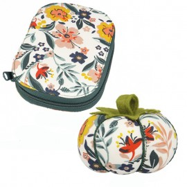 Sewing Travel Set + Pin Cushion Holder Pack - Island Flower
