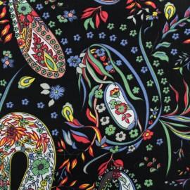 Tissu Viscose Tatiana - noir x 10cm