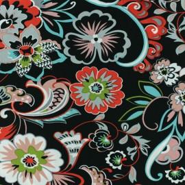♥ Coupon 100 cm X 140 cm ♥  Viscose Fabric - Black Irina