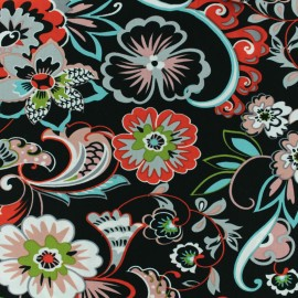 Viscose Fabric - Black Irina x 10cm