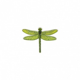 Iridescent Natura Iron-On Patch - Dragonfly