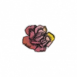 Polynesia Collection Iron-On Patch - Rose