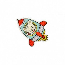 Travelling Bear Collection Iron-On Patch - Astronaut