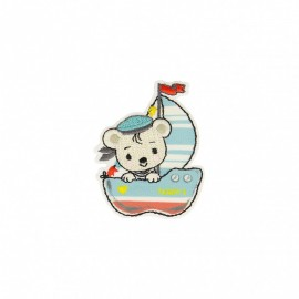 Travelling Bear Collection Iron-On Patch - Sailor