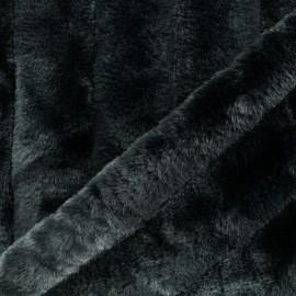 Faux Fur fabric - Black Carlita x 10cm