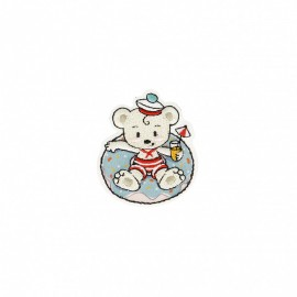 Travelling Bear Collection Iron-On Patch - Bather