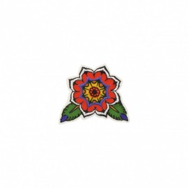 Bikers Collection Iron-On Patch - Flower