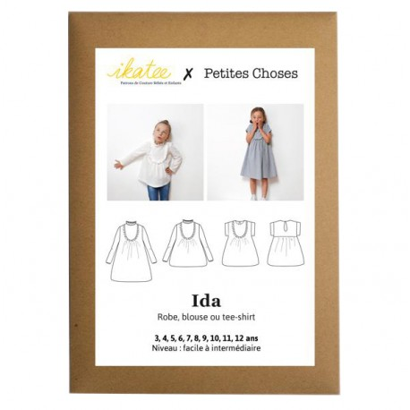 Sewing pattern Ikatee Blouse or Dress Ida - 3 to 12 years old